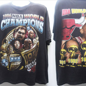 "Other - ""CHICAGO BULLS 1996 NBA Champions Rap Tee"